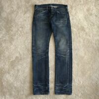 Fabric Brand & Co Selvedge Faded Distressed Made In Japan Button Fly Jeans 30x34