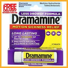 Dramamine LESS DROWSY Motion Sickness Tablets