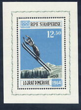 ALBANIA 1963 Innsbruck Winter Olympic Games  perforated block MNH / **