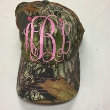 Camouflage Cap Pink Initials A B L Baseball Cap  MESH Back Signatures ONE SIZE