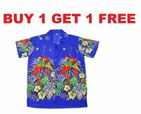 MENS HAWAIIAN SHIRT STAG BEACH HAWAII ALOHA PARTY SUMMER HOLIDAY FANCY S -XXL N3