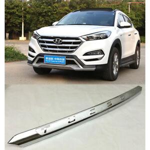 Chrome Front Hood Bonnet Lip Molding Cover Trim Bar For Hyundai Tucson 2016-18