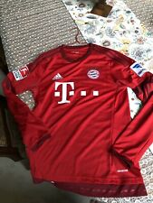 Bayern Munich 15/16 Home Soccer Long Sleeve Jersey  + Official Patches