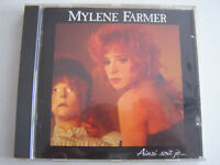 CD MYLENE FARMER , AINSI SOIT JE ... ALBUM CD 10 TITRES 1988 , TRES BON ETAT .