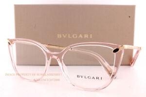 Brand New BVLGARI Eyeglass Frames BV 4196 5470  Transparent Pink For Women