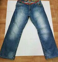 Mens Akademiks Patchwork Boot Cut Relaxed Batch Jenius level Jeans 40 W38 Vtg