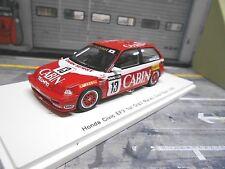 HONDA Civic EF3 Racing Gr.C Macau GP Guia 1988 #13 Shimizu Cabin Spark 1:43