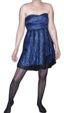 PROM DRESS Midnight BLUE Black LACE Dress Strapless Formal SIZE 3 SIZE SMALL