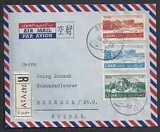 Lebanon covers 1953 Airmailcover Beyrouth to Berneck