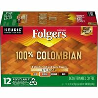 Folgers 100% Columbian, Decaffeinated Medium K-Cup Pods for for Keurig