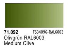 Vallejo Medium Olive Model Air Color 17ml Bottle Paint 71.092 VLJ71092