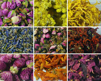 Dried Petals, Dried Flowers -  62 Types! Cornflower, Rose Petals Buds, Lavender
