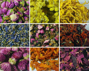 Dried Petals, Dried Flowers -  62 Types! Cornflower, Rose Petals Buds, Lavender