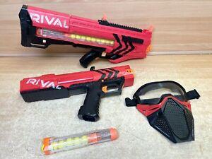 NERF Rival bundle zeus mxv-1200 auto fire apollo xv-700 team red + Balls + Mask