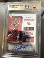 2018 panini contenders draft picks bowl ticket  Kyle Allen auto /99 Mint BGS 9.5