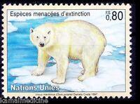 Polar bear, Endangered Wild Animals, United Nation MNH (O45)