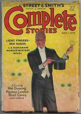 Vintage Pulp~STREET & SMITH'S COMPLETE STORIES~Mar.1 1933 L. G. Blochman+