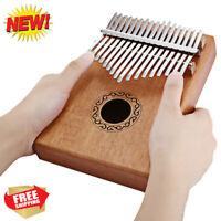 17-Key Kalimba Thumb Piano Mahogany Body Musical Instrument Finger Percussion US