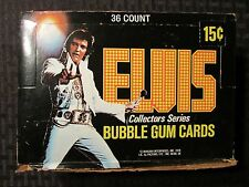 1978 Boxcar ELVIS PRESLEY Bubble Gum Trading Cards BOX of 36 Packs NM+