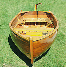 Cedar Rowboat Dingy 9.87' Wood Strip Built Gloss Finish Row Boat Tender New
