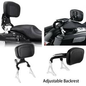 Adjustable Rider Passenger Backrest Fit For Harley Touring Street Glide 14-20