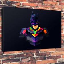 """Abstract Batman Printed Canvas Picture A1.30""""x20"""" 30mm Deep Frame Gotham City"""