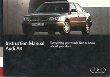 AUDI A6 (C4 SERIES) 2.0 2.6 2.8 PETROL 1.9 2.5 DIESEL 1994 INSTRUCTION HANDBOOK