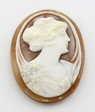 25 mm x 18 mm Oval Hand Carved Italian Shell Cameo - Loose - Unmounted