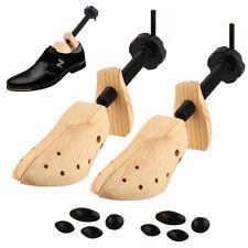 Unisex 2-Way Shoe Tree Stretcher Size 9-14 Adjustable Length & Width Wood Shaper