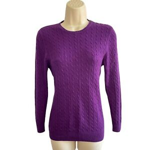 J. Crew Collection Italian Cashmere -Size M -Violet Slim Fit Sweater -Cable Knit
