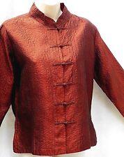 NALJIKA  100% SILK  Evening Jacket  Copper Colour  Size: Med   UK SIZE 12