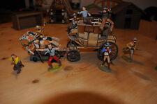 Elastolin, Figuren Set Coboys + Kutsche, Figuren ca. 7cm