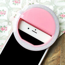 Selfie LED Light Ring Flash Fill Clip Camera For Tablet iPhone Samsung LG Sony