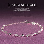 Women Crystal rhinestone Silver Plated Cuff Chain Bangle Charm Bracelet Jewelry