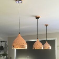 COPPER PENDANT Light Dome Style Pebble Design Home Cafe Office NEW