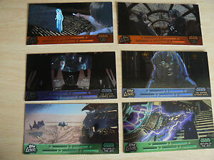 ** TOPPS STAR WARS WIDEVISION LASER CUT CARDS 1-6 SET **
