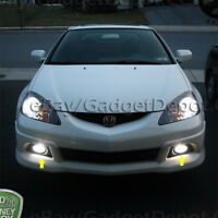 For 2005 2006 Acura RSX Fog Lamp Front Bumper Clear Fog Lights Pair of L&R