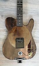 Guitare electrique Telecaster HomeKustom 1875 - Design steampunk electro indus -