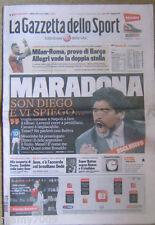 LA GAZZETTA DELLO SPORT=MARADONA=24/3/2012