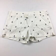 New ListingTelluride Clothing Women's Embroidered Shorts Size 8 White Blue Sailboats Boats
