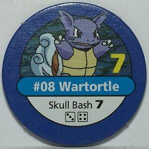 1999 Pokémon Master Trainer Board Game * Part / Piece * Blue Chip #08 Wartortle