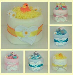 Nappy Cake Baby Shower Gift 1 tier Girl/Boy/Unisex