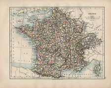 Carte de 1902 ~ france ~ corse ~ somme allier lot sud vendée loire var landes