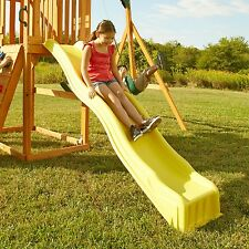 Slide Wave Kids Backyard Playset Garden Playground Equipment Yellow Outdoor Play
