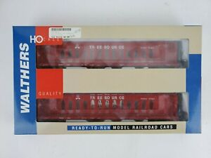 Walthers HO RTR 72' Centerbeam Flat Car Opera 2 Pack - Tree Source - 932-24122