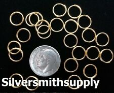 8mm Gold plated split rings jump rings chain clasp attach charms 24 pc fpc021