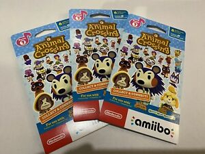 Animal Crossing Amiibo Card Pack Series 3 - Brand New Lot Of (3) US Version