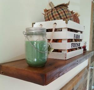 Floating Shelf, Barn Wood, Handmade in USA, Easy DIY install floating shelves