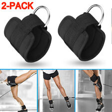 New listing Gym Weight Lifting D Ring Ankle Straps Cable Attachment Strap Fitness Exercise