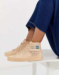 Vans Vivienne Westwood SK8 Hi Top Tan Leather Sneakers Size 10.5 42 New